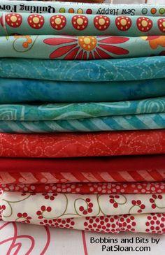 Pat Sloan bobbins and bits fabric line @ModaFabrics