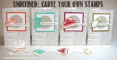 nice people STAMP!: UNDEFINED: Carve your own stamps for unique notecards! - Stampin' Up! by Allison Okamitsu