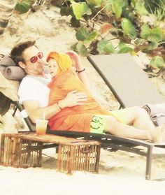 RDJ and his son Exton.