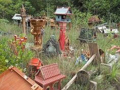Spirit house graveyard