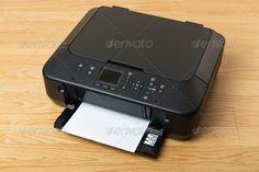 Buy Printer by leungchopan on PhotoDune. Wireless Printer, Stock Photos