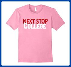 Mens NEXT STOP COLLEGE Graduate Teacher Student T Shirt Medium Pink - Careers professions shirts (*Amazon Partner-Link)