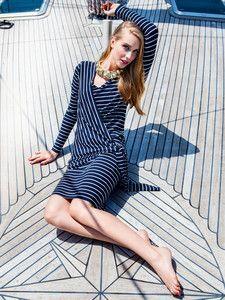 burda style: Damen - Kleider - Wickelkleider - Kleid mit Bindeteilen