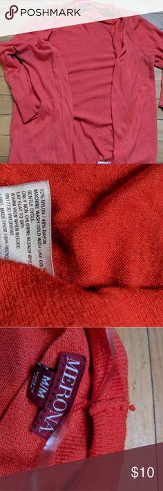 Merona ladies 3/4 sleeve coral cardigan Gorgeous color, very soft Merona Sweaters Cardigans