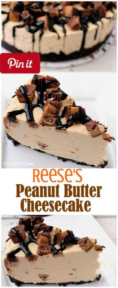 Reeses Peanut Butter No Bake Cheesecake - Reeses Peanut Butter No Bake Cheesecake - Full of chocolate creamy Reeses and more! Kid friendly recipe. #delicious #diy #Easy #food #love #recipe #recipes #tutorial #yummy @mabarto - Make sure to follow cause we post alot of food recipes and DIY we post Food and drinks gifts animals and pets and sometimes art and of course Diy and crafts films music garden hair and beauty and make up health and fitness and yes we do post women's fashion sometimes…