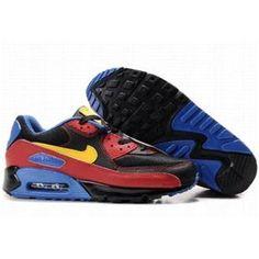 new concept 6f25b 3f4f3 Chaussures Nike Air Max 90 Noir   Rouge   Bleu   Jaune Air Max Homme Nike