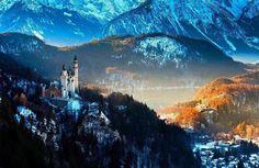 Neuschwansten Castle in Bavaria....