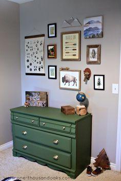 Little Explorer Boys Bedroom | Boys bedroom ideas | Boy Nursery themes | Kids room ideas | Gallery wall