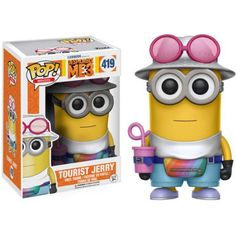 Despicable Me 3 Tourist Jerry Pop! Vinyl Figure: Get ready for another adventure with Gru and the Minions! From Despicable Me 3 comes this Despicable Me 3 Tour Funk Pop, Disney Pop, Pop Vinyl Figures, Funko Pop Figures, Toy Art, Funko Pop Marvel, Pop Minion, Minions Cartoon, Funko Pop Dolls