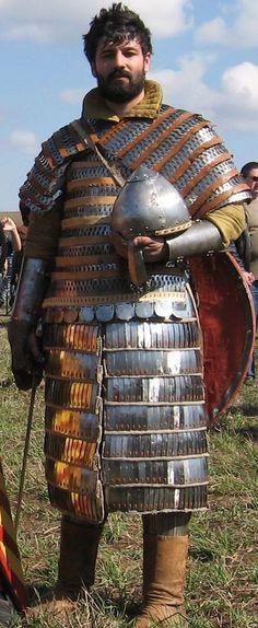 Reenactor in a suit of lamellar armor #larp Repin & like .and Listen to Noelito Flow music. Noel. Thank you http://www.twitter.com/noelitoflow http://www.instagram.com/rockstarking http://www.facebook.com/thisisflow
