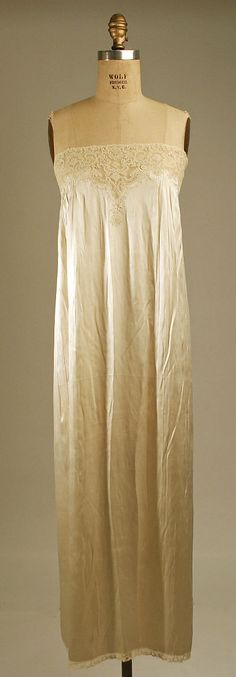Nightgown Date: 1920s Culture: French Medium: silk Accession Number: 1980.487.15