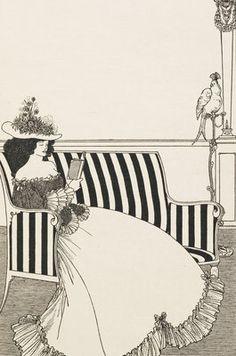 Woman reading by Aubrey Beardsley © The British Library Board