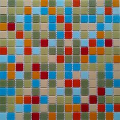 @Overstock - Brio 'Number Nine' tile blend is a fun mix of bright and neutral colors including green, gray, orange, red and blue mosaic glass tiles.http://www.overstock.com/Home-Garden/Brio-Blend-Number-Nine-Backsplash-Panels-Pack-of-20/7618147/product.html?CID=214117 $99.99