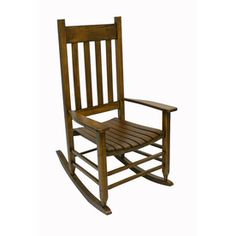 Garden Treasures One Porch Brown Wood Slat Seat Outdoor Rocking Chair 850sdf