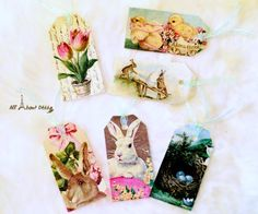 Handmade Fabric Easter Tags - Reader Feature - The Graphics Fairy