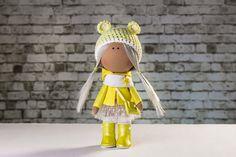 Doll Hanna. Tilda doll. Textile doll. Soft toy. Cute by OwlsUa