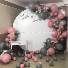 Source Round Circle Donut Acrylic White Wall Backdrop for Wedding on m. Balloon Wall, Balloon Garland, Balloon Arch, Balloons, Wedding Props, Wedding Fair, 16th Birthday Decorations, Deco Ballon, Wall Backdrops
