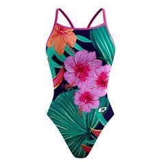 Tropical Rainforest Skinny Strap. Take a swim in the tropical rainforest. #qswimwear