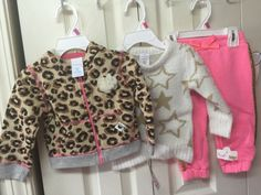 Girls Winter Lot Outfit Infant 12 Mths Three Piece Sweater Pants Leopard Jacket #Wonderkids #TrouserOutfit #DressyEverydayHoliday