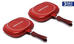 Get 74% #discount on 2 Happy Call Double Sided Pans 28cm #happycall