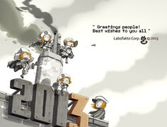Labofaktory 's new year greetings. 2013 on Behance