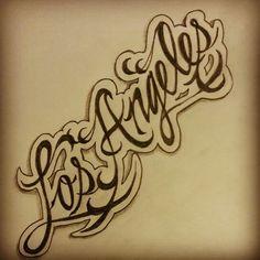 Los Angeles tattoo sketch by - Ranz