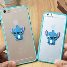 "3D Cute Stitch Soft TPU Frame Rubber Case cover for Apple iphone6 plus 5.5"" 4.7"" #Romrichcaseshop"
