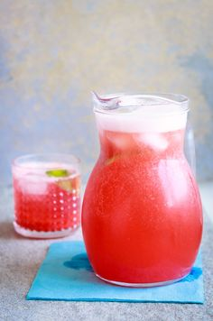 Strawberry Lime Soda A refreshing drink to sip on a sunny spring afternoon.