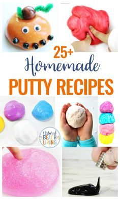 Putty recipes, putty recipes, how to make putty, silly putty recipe, Preschool Arts And Crafts, Fun Activities For Kids, Fun Crafts, Sensory Activities, Sensory Play, Homemade Putty, Homemade Playdough, Craft Projects For Kids, Crafts For Kids To Make