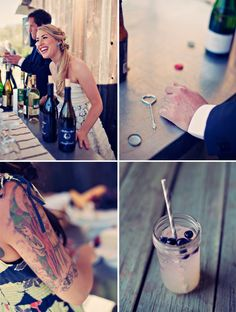 Serve guests drinks as an alternative to receiving line