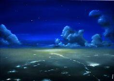 """Stille Nacht"", Öl auf Leinwand 50x70  ""Holy Night"", oil on canvas"