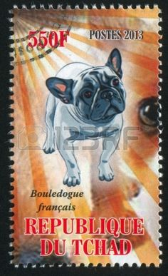Bulldog post stamp from Tchad