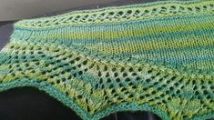 I was inspired to design this shawl by the color of the roving that I used to spin this yarn. It reminded me of one of the green fields at Muttontown when I go hiking. The colors remind me or spring.