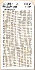 *Tim Holtz Layering Stencil BURLAP THS007