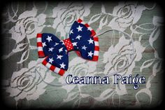 Patriotic Babys first 4th of July Headband Newborn by CeannaPaige, $7.95