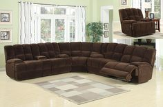 201 Donna Chocolate 3 Piece Sectional