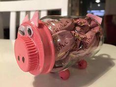 Pilttipurkki possu Pigs, Piggy Bank, Pot Holders, Diy And Crafts, Diy Ideas, Kindergarten, Kitchen, Kinder Garden, Cucina