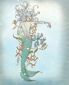 mermaid mosaic in shower?