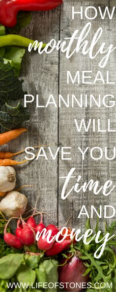 How monthly meal planning will save you time and money via @kristinstones