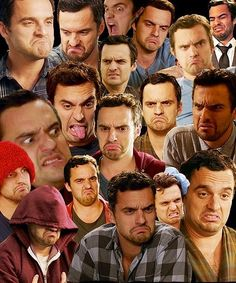The many relatable faces of Nick Miller.