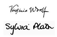 Famous Authors' Signatures : Virginia Woolf & Sylvia Plath