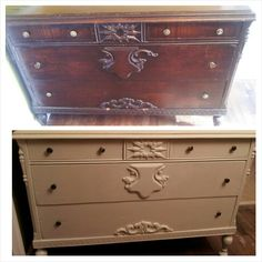 Refinished an ornate old buffet