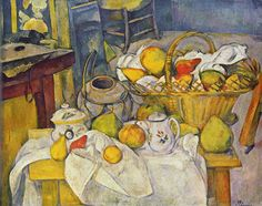 "PAUL CÉZANNE: ""Still life with fruit basket (the kitchen table)"", 1880-1890"