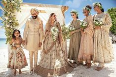Sabyasachi Launches His All New Destination Wedding Edit In Association With CN Traveller! Sabyasachi Launches His All New Destination Wedding Edit In Association With CN Traveller! Boho Wedding Dress, Wedding Wear, Designer Wedding Dresses, Wedding Poses, Wedding Couples, Wedding Makeup, Indian Beach Wedding, Punjabi Wedding, Indian Bridal