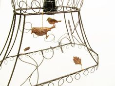 Wire Lamp Shade  Love / Junk Art Wire Words by SassytrashAntiques