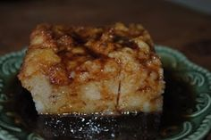 Bread pudding made with leftover biscuits. super easy!! Made it tonight... Josh likes it!  I did not make the sauce... we used some left over, store bought caramel sauce.