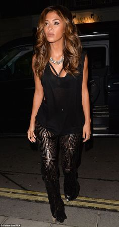 Vamping it up: Nicole Scherzinger looked stunning as she visited Nobu restaurant in London on Saturday
