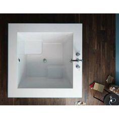 kohler japanese soaking tub. Kohler K 1968 Underscore Drop in Cube Soaking Bath Tub Japanese  0 White