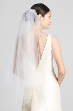 Free shipping and returns on WEDDING BELLES NEW YORK 'Ellen' Veil at Nordstrom.com. A gauzy tulle veil is cut in a gracefully curved, face-framing silhouette.