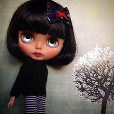 Custom Blythe Doll by Blythe & Shine OOAK Black by BlytheandShine